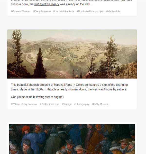 Screenshot Tumblr-Blog des Getty Museum