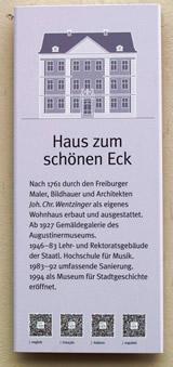Info-Tafel Freiburg mit QR Codes für ausländische Besucher