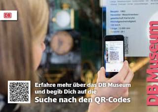 Postkarte QR Code Ralley DB Museum Nürnberg