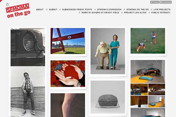 Screenshot Tumblr Blog SFMOMA