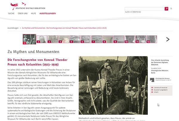 Startseite der Virtuellen Ausstellung Konrad Theodor Preuss