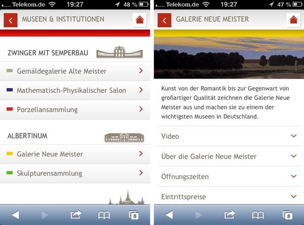 Web App der Staatlichen Museen Dresden